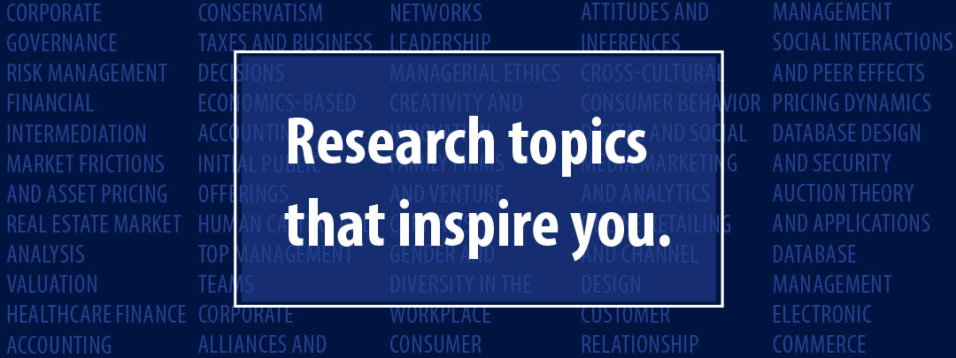 Research topics that inspire you.